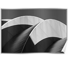 Kauffman Center Black and White Curves and Shadows Poster