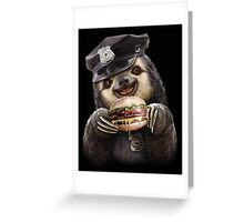 BURGER COP Greeting Card