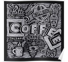 Coffee Chalk Sketch Poster