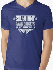Sol & Vinny Pawn Brokers Mens V-Neck T-Shirt