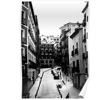 Cobbled street in Madrid Poster