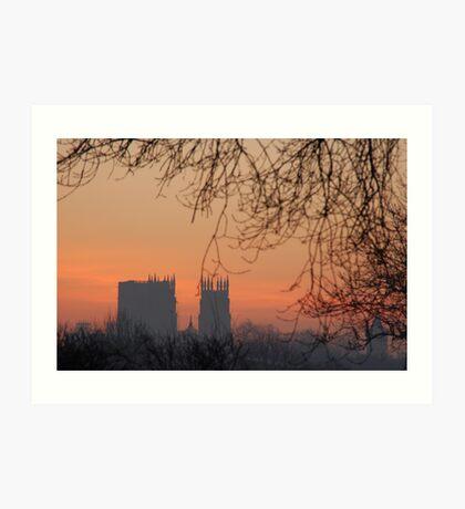 York Minster (Winter sunrise) Art Print