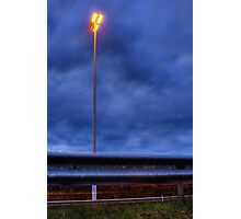 Speedway lamp Photographic Print