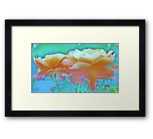 Pastel Colours Framed Print