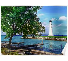 Lighthouse Grand Lake St Mary's Poster