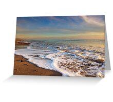 Sea foam at the beach Greeting Card
