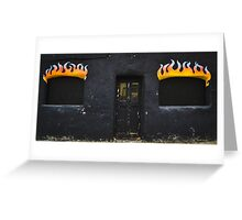 Facade of Fire  Greeting Card