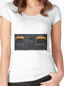 Facade of Fire  Women's Fitted Scoop T-Shirt