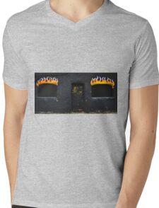 Facade of Fire  Mens V-Neck T-Shirt