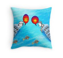 Mary Bobbins & John Shellins Throw Pillow