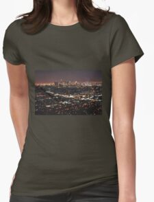 Los Angeles Skyline Womens Fitted T-Shirt