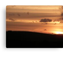 vibrant sunset Canvas Print