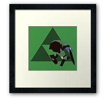 Toon Link (LOZ) - Sunset Shores Framed Print