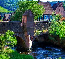 Kaysersberg - bridge by Jörg Holtermann