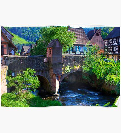 Kaysersberg - bridge Poster