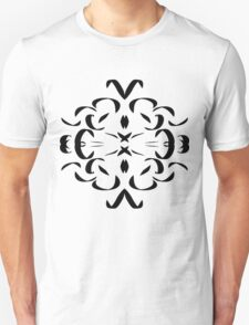Pen and Ink Pattern, black and white Unisex T-Shirt
