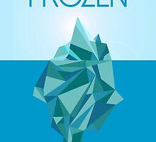 Frozen  Minimalist Movie Poster by reinventdesign