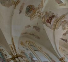 Ravages of Time - the Faded Beauty of an Elegant Church on Capri Island  Sticker