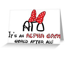 Alpha Gamma Delta - Disney Greeting Card