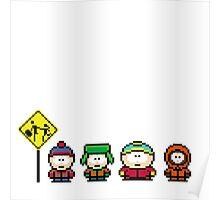 South Park - pixel art Poster