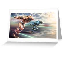 Supersonic Runners Greeting Card