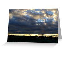 Below the Clouds.. Greeting Card