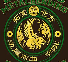 Beifong Metalbending Academy - Green & Gold by KumoriDragon