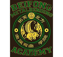 Beifong Metalbending Academy - Green & Gold Photographic Print