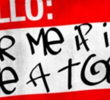 toss red Sticker