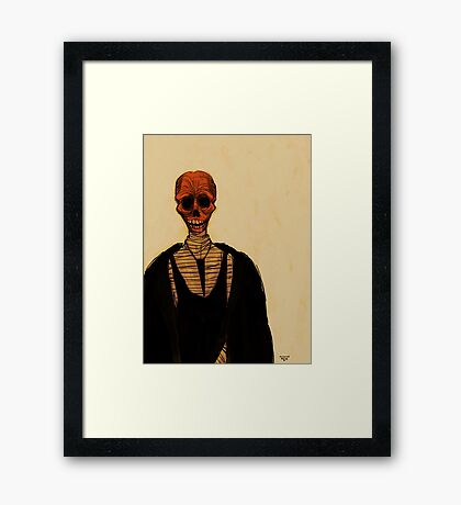 Red Skull Framed Print