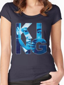 """KING """" Flint Grey """" """" Jordan """" Women's Fitted Scoop T-Shirt"""
