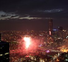 N.Y.E 9pm Fireworks Display Melbourne by ozzo