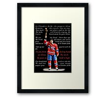 to you from failing hands Framed Print