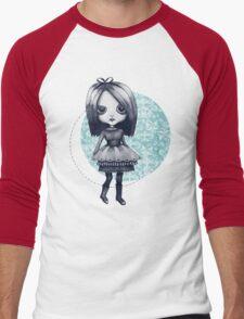 Gothy Girl Men's Baseball ¾ T-Shirt