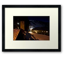 Falls Creek at night Framed Print