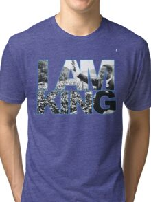 I AM KING Jordan 7 flint grey Tri-blend T-Shirt