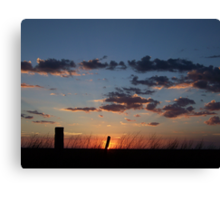 Simple Sundown Canvas Print