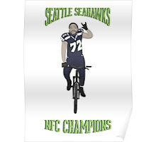 Michael Bennett Does a Victory Lap Poster