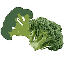 But Broccoli Loves You! Photographic Print