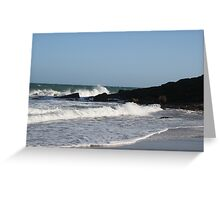 Foamy seas Greeting Card