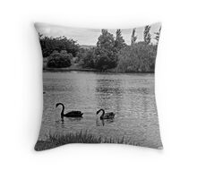 Black Swans Throw Pillow