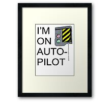 I'm On Auto-Pilot (MechJeb) - KSP Framed Print