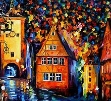 Germany, Medieval Rothenburg — Buy Now Link - www.etsy.com/listing/219044573 by Leonid  Afremov