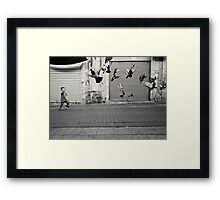 happy runner Framed Print