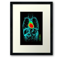 Burning Heart Framed Print