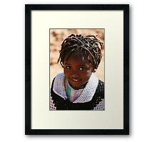 African Child Framed Print