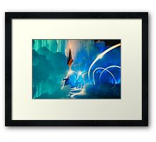 I was in another world Framed Print
