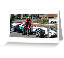 And This Is As Close As I'll Get To Driving A Formula One Car! Greeting Card