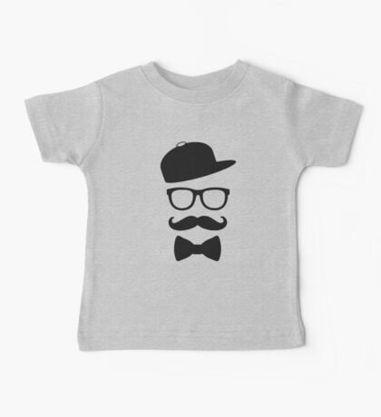 mustace eyes black glass swag Baby Tee