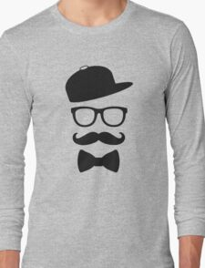 mustace eyes black glass swag Long Sleeve T-Shirt